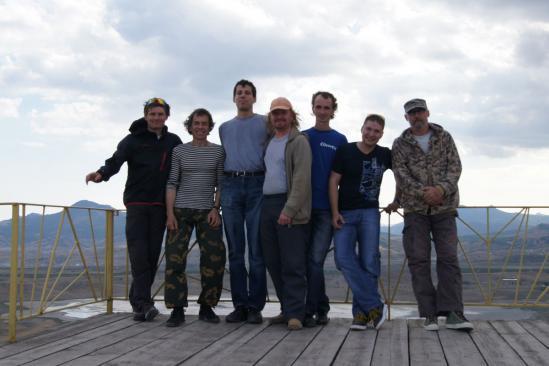 Участники осенней школы полетов в Крыму 2011