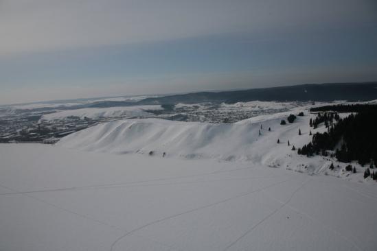 Восточный склон в Михайловске - вид сверху